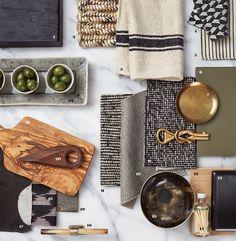 Three Design Inspiration Boards for Your Next Kitchen Renovation Mood Board Interior, Interior Design Boards, Interior Inspiration, Design Inspiration, Inspiration Boards, Shed Conversion Ideas, Material Board, Design Palette, House Colors