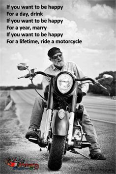 My dad bought his first Harley on his last day of chemo. This reminds me of him.