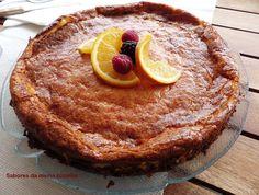 Cheesecake de laranja com frutos vermelhos - Sabores da minha cozinha