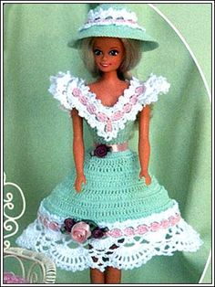 Barbie Crochet: Green Summer Dress, pattern