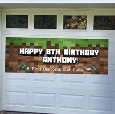 Customize your Minecraft themed birthday party with this Minecraft party banner! Made to order- please send details when you order.  We will Email your Digital file- Print at your local print shop or Staples (approx $23.00).  width: 80 inches height: 28 inches  Copyright Notice: This item is not a licensed product, all images and characters used in the creation of this item belong to their respective copyright and trademark owners.
