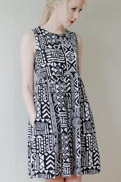 tribal print jersey dress by peoplewebs: