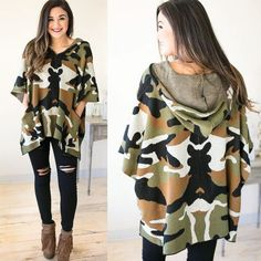This has to be the cutest camo hoodie we've ever seen Shop now under new arrivals at the link in our bio!  #lotusboutique