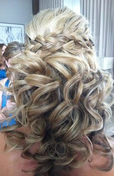 love the curls and braid....great wedding hair