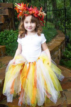 Fall Glitter Tulle Tutu fairy costume