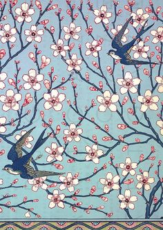 PERCEPTION versus REALITY Can you believe it's March already? Japanese Graphic Design, Graphic Design Print, Graphic Design Typography, Japanese Art, Japanese Patterns, Blue Swallow, Swallow Bird, Illustration Blume, Arts And Crafts Movement