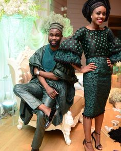 When the swag is too much. Congrats to our style crush on her traditional engagement to African Dresses For Women, African Wear, African Attire, African Women, African Style, African Inspired Fashion, African Print Fashion, African Prints, King Fashion