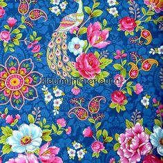 Pip pauw en bloemen wallcovering 313054, PiP Wallpaper II  Eijffinger