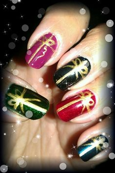 xmas presents by pinkladysz - Nail Art Gallery nailartgallery.nailsmag.com by Nails Magazine www.nailsmag.com #nailart