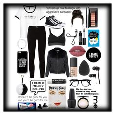 """""""Me"""" by theimperfect-perfection ❤ liked on Polyvore featuring Frame, Converse, USA Pro, Bobbi Brown Cosmetics, Casetify, Glamorous, Edward Bess, MAC Cosmetics, Lime Crime and NARS Cosmetics"""