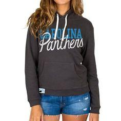 Women s Carolina Panthers Junk Food Black Sunday Pullover Hoodie b05d316b4