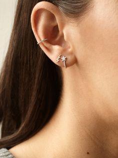 DROP CHAIN hoops 925 sterling earrings dainty earrings chain hoops cz huggie hoops chain earrings threader earrings Ruby and emerald