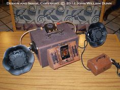 iCog Victorian Boombox Steampunk Subwoofer Dock for the Apple iPhone 4 / 4s and iPod 2/3/4