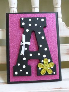 Teen Tween Contemporary Chic Custom Initial Wall Letters Monogram Name
