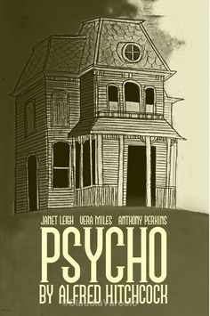 Film poster Psycho retro print in various sizes Minimal Movie Posters, Minimal Poster, Horror Movie Posters, Cinema Posters, Film Posters, Horror Movies, Comedy Movies, Movie Film, Hitchcock Film