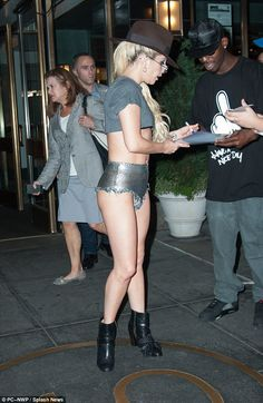 Lady Gaga Flashes Under Butt In New Daring Outfit | Photos