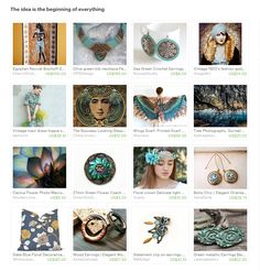 The idea is the beginning of everything. Curator: Elena Doniy from www.etsy.com/shop/Vualia #etsy #etsytreasury #romantic #jewelry #blue #bohochic #green #artdeco #giftideas #vintage #romanticstyle #photography #handmadegifts #floral #bridal #styleblogger #fashionblogger #earrings #wings #seedbeadnecklace #partyfavors #artnouveau #flowerheadband #flowergirls #egyptianrevival #vintagefashion #photocollage #designinspiration #throwpillow