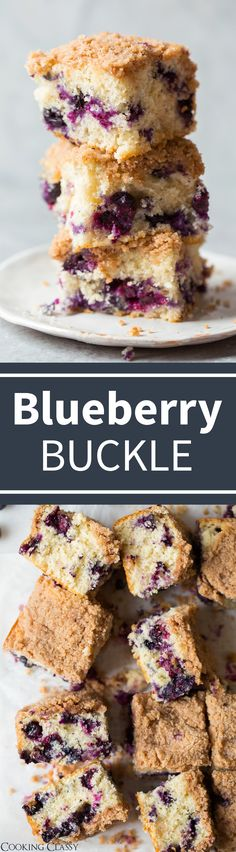 Blueberry Buckle - Cooking Classy