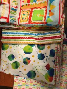 Birthday themed bags to replace wrapping paper.