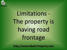 Limitations are. . .