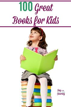 A list of 100 great books for kids. This list of great books for kids includes titles for all ages from Preschool through Junior High. Teaching Kids, Kids Learning, Homeschool Curriculum, Homeschooling Resources, Parenting Books, Parenting Tips, Dream Book, Writing Lessons, Childrens Books