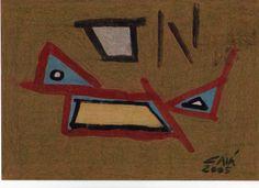 Nome do Artista: CAIÁ / Nome da Obra: GOIAMUM / Técnica: Pintura com Tinta Acrílica sobre Papel. / Contato: (84)99451024 / Parnamirim / RN / Brasil