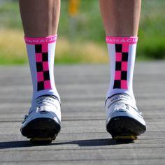 Vert Stripes (Black & Fuschia) Socks