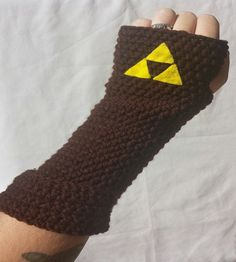 Link from The Legend of Zelda Inspired gauntlets Fingerless Gloves on etsy