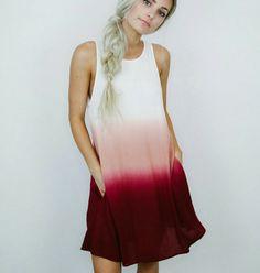 Dallia dip dye dress #ShopAOF