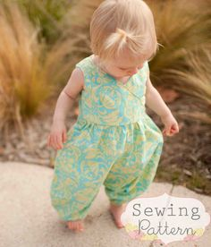 INSTANT DOWNLOAD- Katelyn Romper (Sizes 6/12 mos to Size 6) PDF Pattern and Tutorial $7