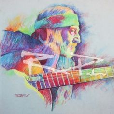Rod Petersons Art  Willie Nelson