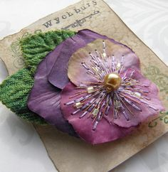 Heather Shade - Pansy Corsage. $13.50, via Etsy.