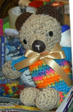 Cute crocheted bear.