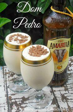 Dom Pedro ~ best drinking dessert ! #SouthAfrican #Dessert #Beverage #Amarula #DomPedro