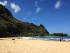 Tunnels Beach in Hanalei, HI