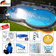 Cool Achtformpool x x m Set Achtformbecken Mega Auswahl Stahlwandpool Achtformpool toller Garten Pool Set zum guenstig kaufen