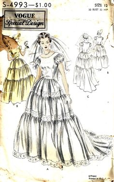 1960s+bridal+veil+patterns | home vintage sewing patterns vintage sewing pattern wedding dress ...