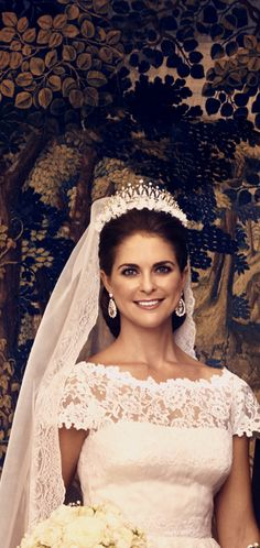 Princess Madeline of Sweden on her wedding day, June 8, 2013