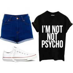 A fashion look from January 2015 featuring tee-shirt, short shorts and converse sneakers. Browse and shop related looks. Shorts And Converse, Converse Sneakers, Tee Shirts, Tees, Chuck Taylor Sneakers, Chuck Taylors, Fashion Looks, Dreams, Shopping