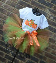 Pumpkin Trio Fall Themed Tutu Outfit, Cutest Pumpkin in the Patch, Pumpkin Patch Party, Pumpkin Birthday