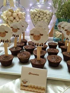 Little Lamb Themed Boys Baby Shower Party Food Ideas