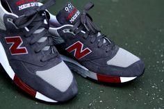 NEW BALANCE 998 GREY/RED  http://www.facebook.com/DressShoesandSneaker  http://dressshoesandsneakers.tumblr.com/