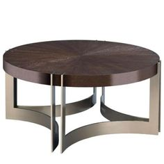 Kenton Round Cocktail Table Made by American Drew in Ad modern classics Round Coffee Table Modern, Drum Coffee Table, Coffee Table Wayfair, Cool Coffee Tables, Parks Furniture, Hooker Furniture, King Platform Bed, Kitchen Lamps, Cocktail Tables