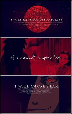 "Madara ""I will revenge my injuries. If I cannot inspire love, I will cause fear"". Madara Uchiha, Naruto Uzumaki, Boruto, Kakashi, Anime Naruto, Naruto Funny, Naruto Images, Naruto Pictures, Naruto Pics"