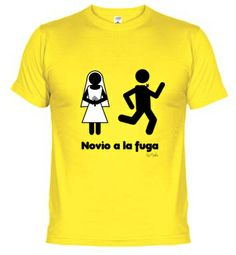 Novio a la fuga  http://www.latostadora.com/moshis/dibujos/322051  #despedida #soltero #despedidadesoltero #novio #prometido #camiseta #tshirt #regalo #wedding