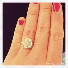 """From the April 2013 Magnificent Jewels auction at Christie's. Lot #98, """"A Diamond Ring, by Harry Winston"""", perfect on my hand until it sold for $423,750! www.instagram.com/ringliaison"""