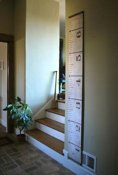 growth chart.  I have been wanting to make one of these - beats writing in the wall!!