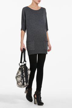 Knit Pocket Pullover (BCBG)