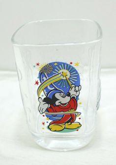 McDonalds Walt Disney World 2000 Epcot Millennium Drinking Glass Mickey Mouse Drinking Glass, Epcot, Mcdonalds, Walt Disney World, Mickey Mouse, Glasses, Store, Ebay, Eyewear
