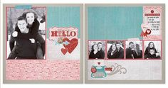 12″ x 12″ You Had Me at Hello Layout Magic: Card Trick™, X7193B Heartstrings Paper Packet, X7193C Heartstrings Complements, Z3015 Heartstrings Assortment, Z3024 White Shimmer Trim The charming papers of the Heartstrings paper packet make beautiful layouts devoted to those you love. Did you notice that the journaling spot on this layout is really a Heartstrings Complement in disguise?